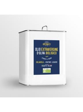 Olio nuovo Extra Vergine di oliva Ogliarola fruttato leggero Biologico Frantoio Antonacci San Giovanni Rotondo Puglia 3 litri