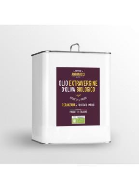 Olio nuovo Extra Vergine di oliva Peranzana fruttato medio Biologico Frantoio Antonacci San Giovanni Rotondo Puglia 3 litri