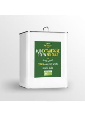 Olio nuovo Extra Vergine di oliva Coratina fruttato intenso Biologico Frantoio Antonacci San Giovanni Rotondo Puglia 3 litri