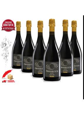 6 bottiglie di Prosecco Selezione Enotria metodo Charmat/Martinotti Lungo scontate e con trasporto gratuito assicurato